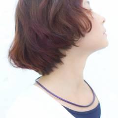 ブラウンベージュ ピンク オレンジ ストリート ヘアスタイルや髪型の写真・画像