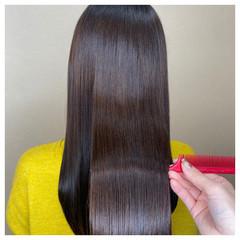 ロング 艶髪 ナチュラル アッシュブラウン ヘアスタイルや髪型の写真・画像