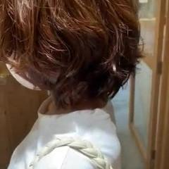 毛先パーマ パーマ パーマ ボブ ヘアスタイルや髪型の写真・画像