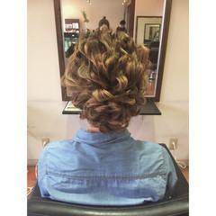 ロープ編み 結婚式 外国人風 ヘアアレンジ ヘアスタイルや髪型の写真・画像