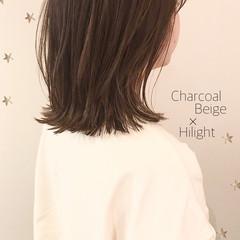 切りっぱなし ハイライト ロブ ストリート ヘアスタイルや髪型の写真・画像
