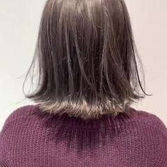 外国人風カラー グレージュ ハイトーン ナチュラル ヘアスタイルや髪型の写真・画像