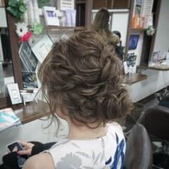ゆるふわ 結婚式 ヘアアレンジ フェミニン ヘアスタイルや髪型の写真・画像