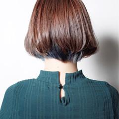 ストリート ラベンダー ボブ インナーカラー ヘアスタイルや髪型の写真・画像