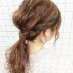 波ウェーブ ショート 簡単ヘアアレンジ ヘアアレンジ ヘアスタイルや髪型の写真・画像
