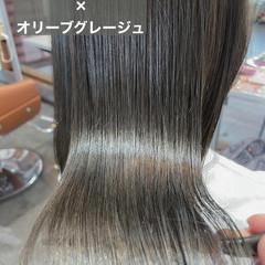 髪質改善トリートメント オリーブグレージュ オリーブベージュ オリーブ ヘアスタイルや髪型の写真・画像