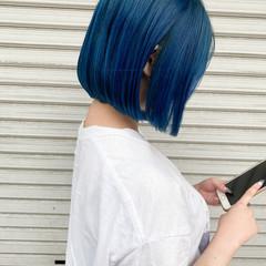 ミニボブ 切りっぱなしボブ アンニュイほつれヘア ガーリー ヘアスタイルや髪型の写真・画像