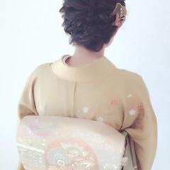 結婚式 着物 ミディアム エレガント ヘアスタイルや髪型の写真・画像