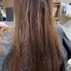 ヘナカラー ロング 髪質改善トリートメント エレガント ヘアスタイルや髪型の写真・画像