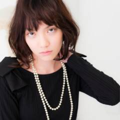 暗髪 モード コンサバ フェミニン ヘアスタイルや髪型の写真・画像