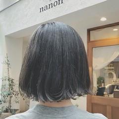 ナチュラル デート ゆるふわ ボブ ヘアスタイルや髪型の写真・画像