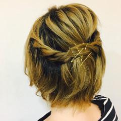 ショート ヘアアレンジ ヘアピン ヘアスタイルや髪型の写真・画像