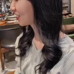 ロング 艶カラー 艶髪 髪質改善カラー ヘアスタイルや髪型の写真・画像