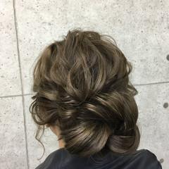 アップスタイル ロング パーティ 結婚式 ヘアスタイルや髪型の写真・画像