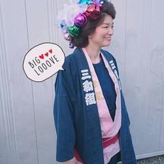 着物 ロング ヘアアレンジ お祭り ヘアスタイルや髪型の写真・画像