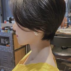 ショート 前下がりショート ナチュラル ショートヘア ヘアスタイルや髪型の写真・画像