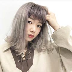 ストリート バレイヤージュ ラベンダーアッシュ 外国人風カラー ヘアスタイルや髪型の写真・画像