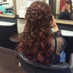 結婚式 セミロング 上品 ヘアアレンジ ヘアスタイルや髪型の写真・画像