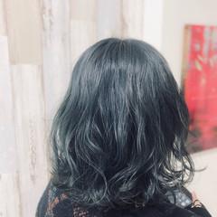 ダークアッシュ アッシュグレージュ ブルーアッシュ アッシュグレー ヘアスタイルや髪型の写真・画像