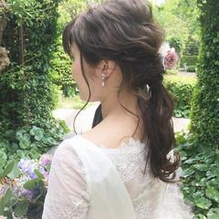 愛され モテ髪 花嫁 ナチュラル ヘアスタイルや髪型の写真・画像