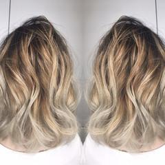 ハイライト ストリート リラックス デート ヘアスタイルや髪型の写真・画像