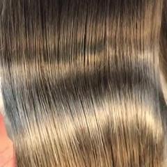 パーマ 縮毛矯正 エレガント ロング ヘアスタイルや髪型の写真・画像