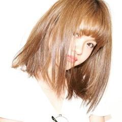 ミディアム 外国人風 ガーリー 前髪あり ヘアスタイルや髪型の写真・画像