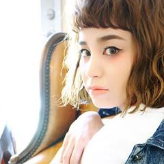 ストリート ブラウン 外国人風 オン眉 ヘアスタイルや髪型の写真・画像
