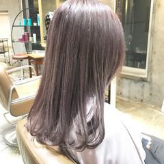 ラベンダー ロング ガーリー 外国人風 ヘアスタイルや髪型の写真・画像