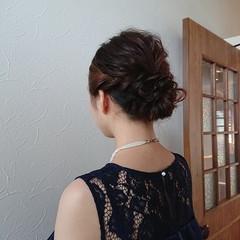 和装 フェミニン ボブ ヘアアレンジ ヘアスタイルや髪型の写真・画像