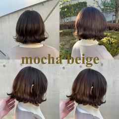 オリーブアッシュ オリーブカラー ナチュラル オリーブブラウン ヘアスタイルや髪型の写真・画像