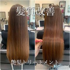 ロングヘア ナチュラル 髪質改善トリートメント 大人かわいい ヘアスタイルや髪型の写真・画像