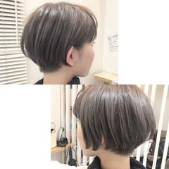 ショート ストリート ハイライト アッシュ ヘアスタイルや髪型の写真・画像
