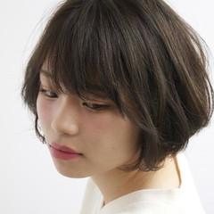 透明感 ボブ ナチュラル ダブルカラー ヘアスタイルや髪型の写真・画像