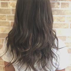 秋 イルミナカラー ガーリー セミロング ヘアスタイルや髪型の写真・画像