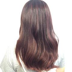 艶髪 ガーリー ピンク ロング ヘアスタイルや髪型の写真・画像