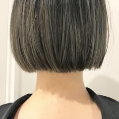 ブリーチ ボブ 切りっぱなし モード ヘアスタイルや髪型の写真・画像