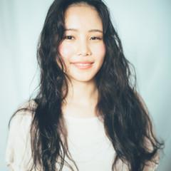 フェミニン ガーリー 黒髪 ロング ヘアスタイルや髪型の写真・画像