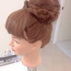 ロング 編み込み ヘアアレンジ ブライダル ヘアスタイルや髪型の写真・画像