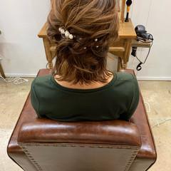 結婚式アレンジ ボブ ショートヘアアレンジ エレガント ヘアスタイルや髪型の写真・画像