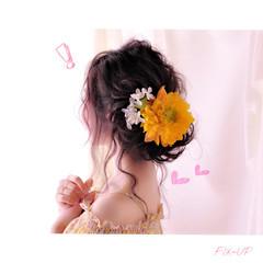 ショート フェミニン 簡単ヘアアレンジ アッシュ ヘアスタイルや髪型の写真・画像