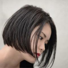 ストリート ハイライト 黒髪 大人女子 ヘアスタイルや髪型の写真・画像