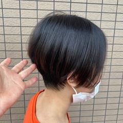 ショートボブ ナチュラル 丸みショート ショート ヘアスタイルや髪型の写真・画像