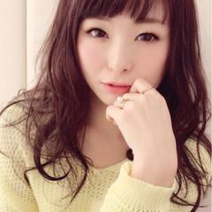 小顔 セミロング 大人かわいい フェミニン ヘアスタイルや髪型の写真・画像