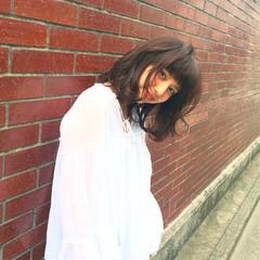 ナチュラル セミロング ワイドバング パーマ ヘアスタイルや髪型の写真・画像