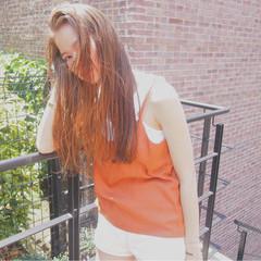 ロング ニュアンス ストリート ハイライト ヘアスタイルや髪型の写真・画像