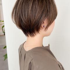 モテ髪 大人可愛い ショート ナチュラル ヘアスタイルや髪型の写真・画像