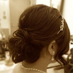 アップスタイル ブライダル パーティ ヘアアレンジ ヘアスタイルや髪型の写真・画像