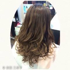 ハイライト 外国人風カラー グラデーションカラー ロング ヘアスタイルや髪型の写真・画像
