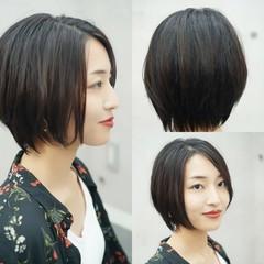 ショート 大人女子 ミニボブ ハンサムショート ヘアスタイルや髪型の写真・画像